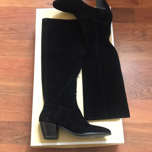 Michael Kors Avery Suede Black Boot